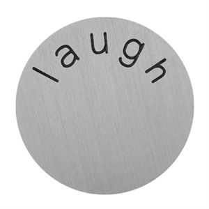 Picture of 'Laugh' Large Silver Coin